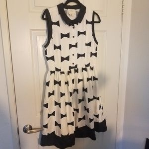 Kate Spade Sleeveless 12 Bowtie Collared Dress